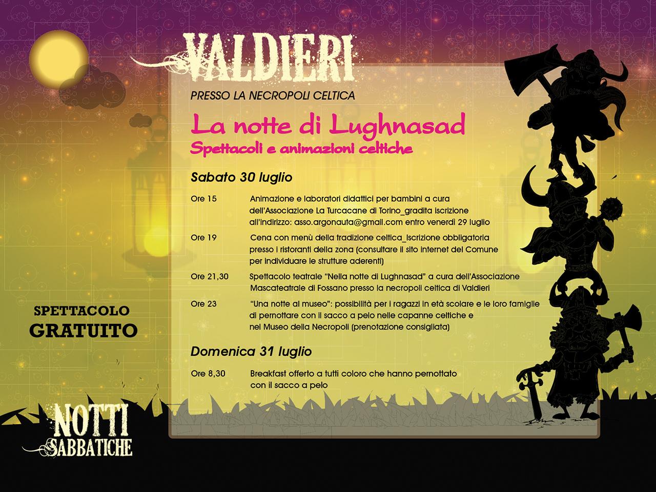 Sabato 30 Luglio - La Notte di Lughnasad - Valdieri
